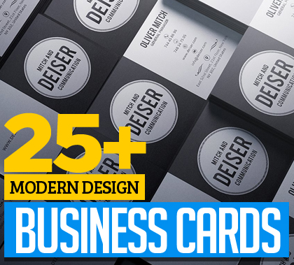 Post thumbnail of 25+ Modern Business Cards Design for Inspiration
