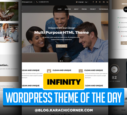 infinity – Multipurpose Business WordPress Landing Page