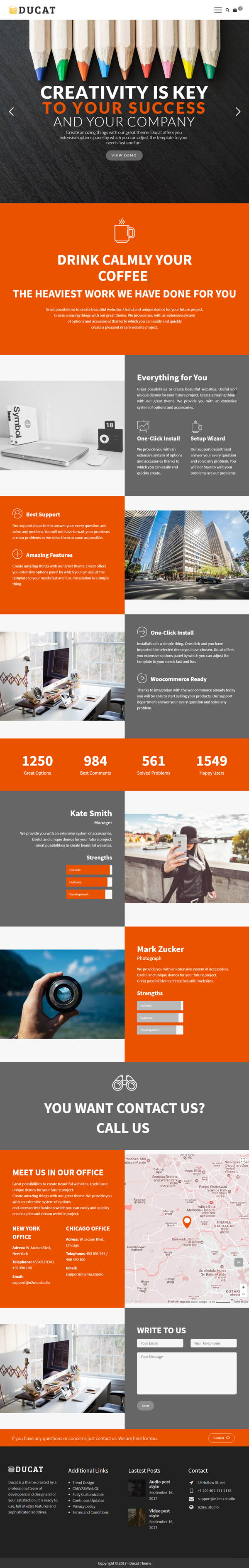 Ducat - Responsive Multi-Purpose WordPress Theme