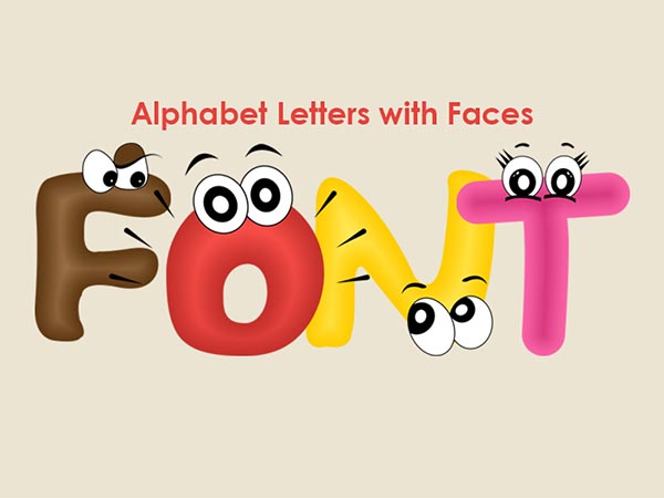 FREE Funny Alphabet letters with faces