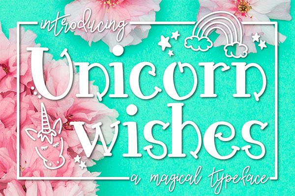 FREE Unicorn Wishes: A Magical Font