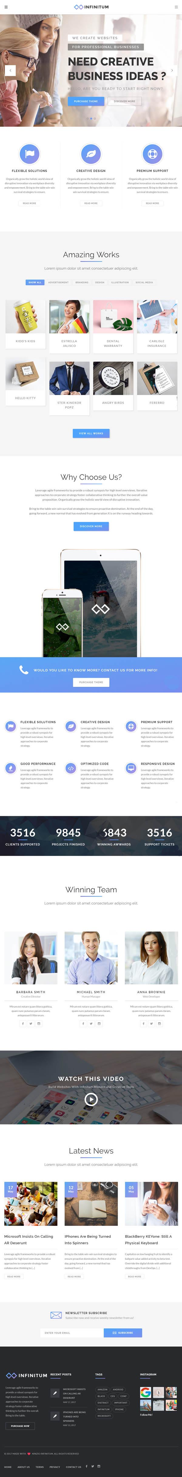 Infinitum : Responsive Multi-Purpose WordPress Theme