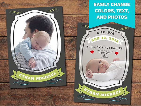 Treasure Birth Announcement Template