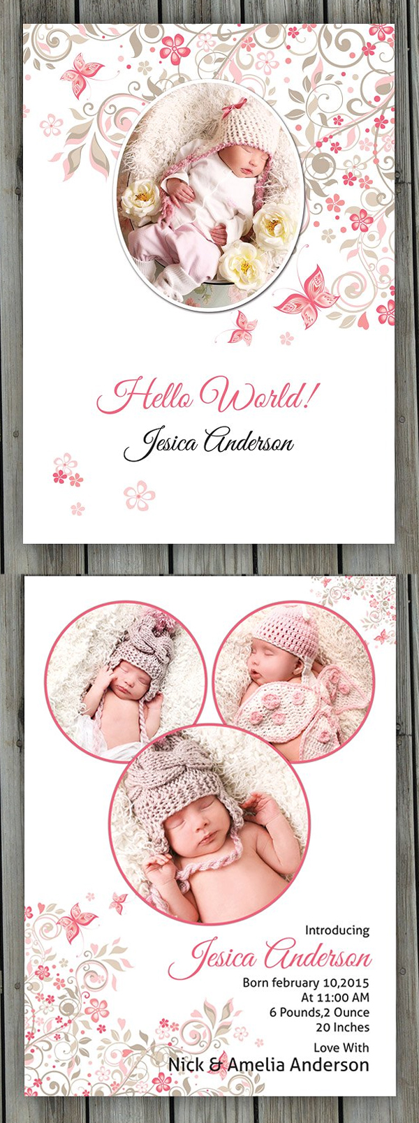 Birth Announcement Template-V09