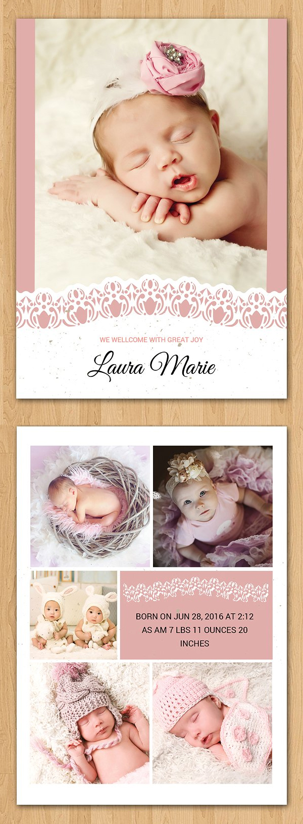 Birth Announcement Template-V10