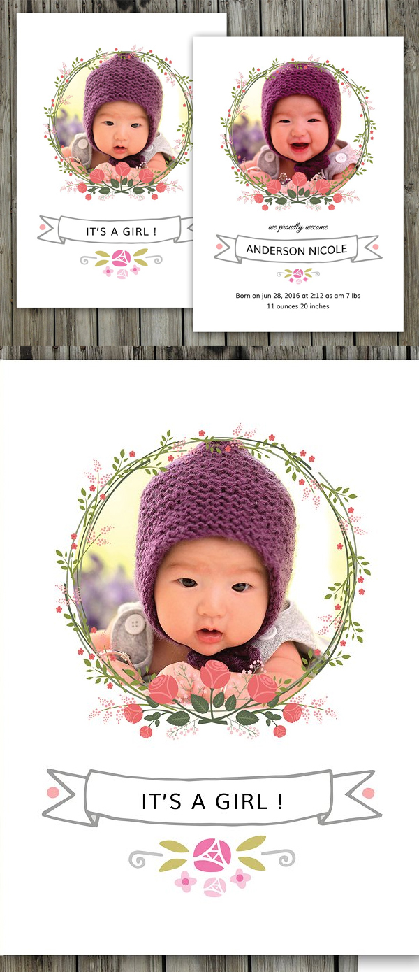 Birth Announcement Template-V07