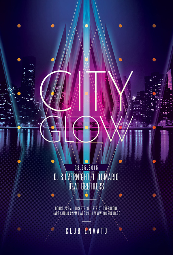 City Glow Flyer Template