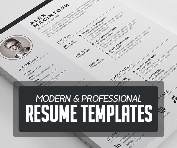 Modern & Professional Resume / CV Template