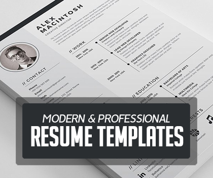 Post thumbnail of Modern & Professional Resume / CV Template