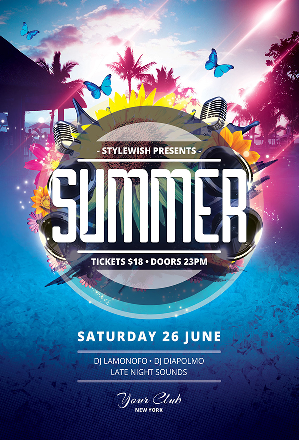 20 creative summer flyers poster designs graphics design summer flyer template saigontimesfo