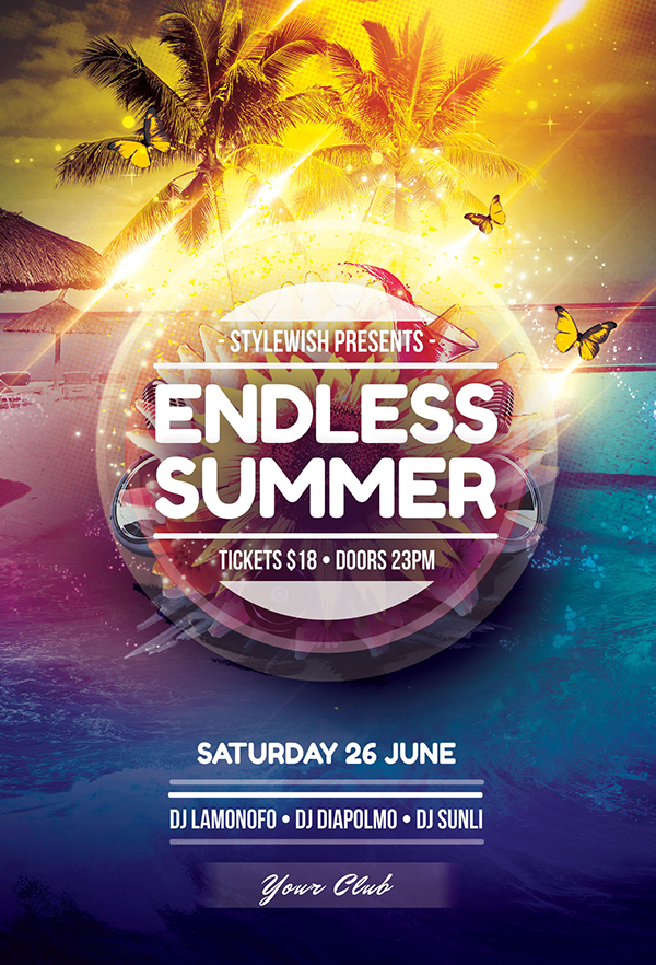 Endless Summer Flyer Template