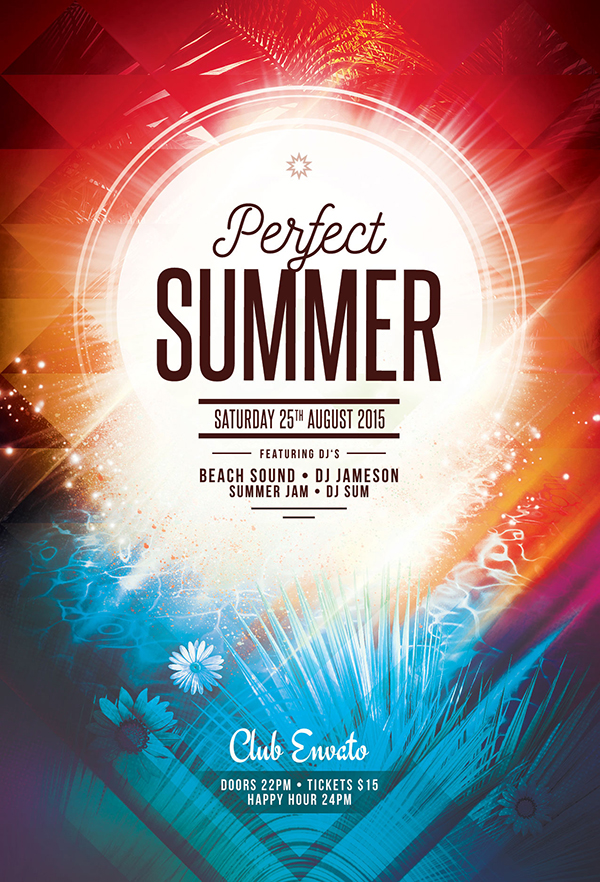 Perfect Summer Flyer Template