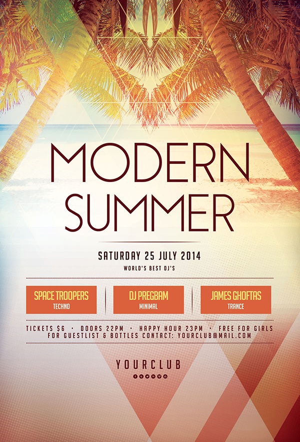 summer flyer templates free
