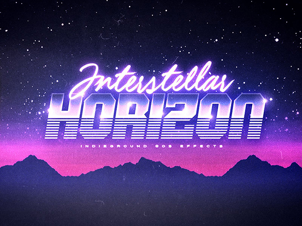 80's Text Effects for Photoshop