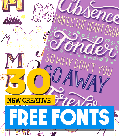 Creative Free Fonts For Creative or Graphic Designers