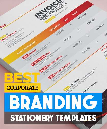free corporate branding psd template news freebies free fonts