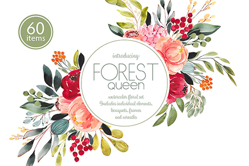 Forest Queen watercolor set
