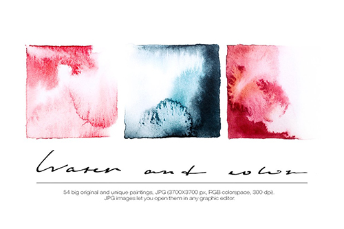 Watercolor Textures / Backgrounds