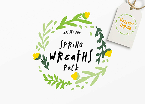 Spring Wreaths Vector Pack