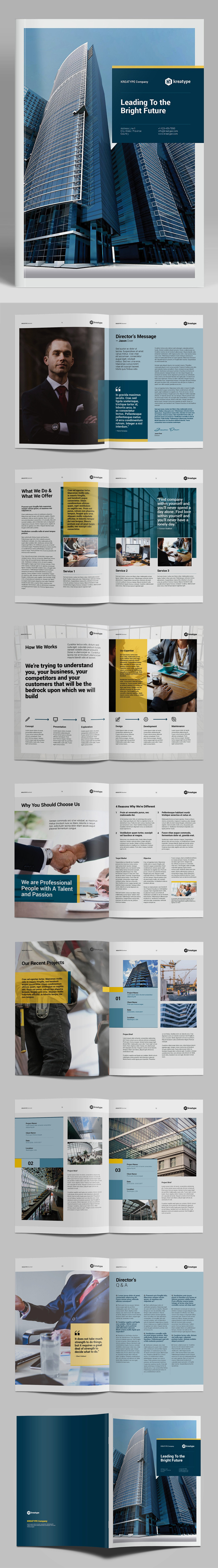 100 Professional Corporate Brochure Templates - 55