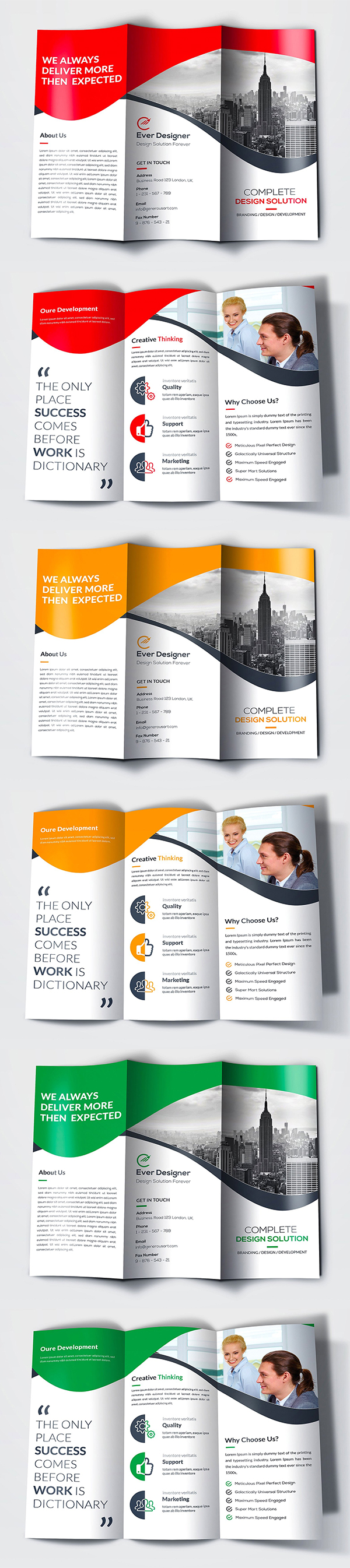 Professional and Clean Trifold Brochure