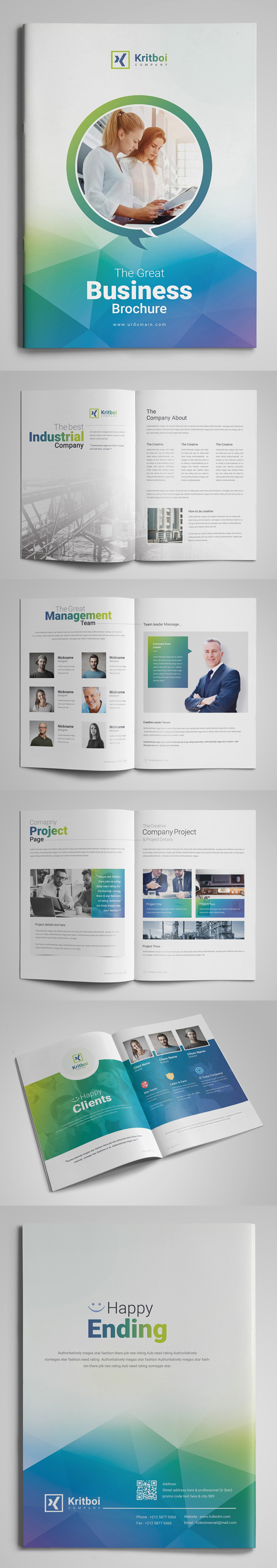 100 Professional Corporate Brochure Templates - 51