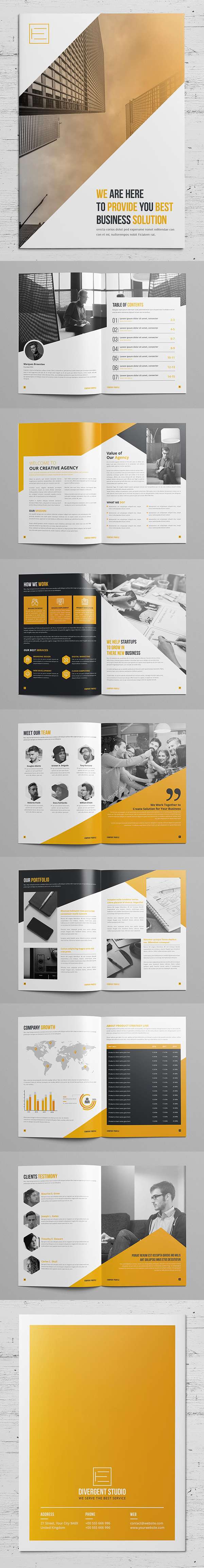 100 Professional Corporate Brochure Templates - 52
