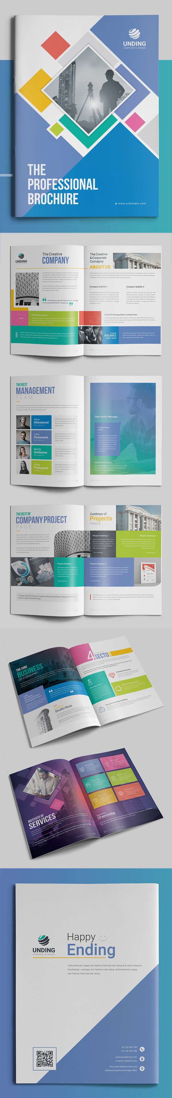 100 Professional Corporate Brochure Templates - 54