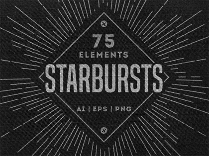 Creative Retro Starbursts Vector Collection (AI, EPS, PNG)