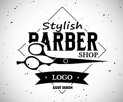 Stylish Vintage Barber Shop Logo Templates Free Download (PSD)