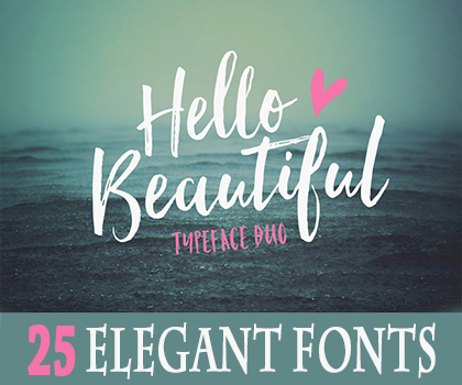 Post thumbnail of 25 Elegant & Stylish Fonts For Designers