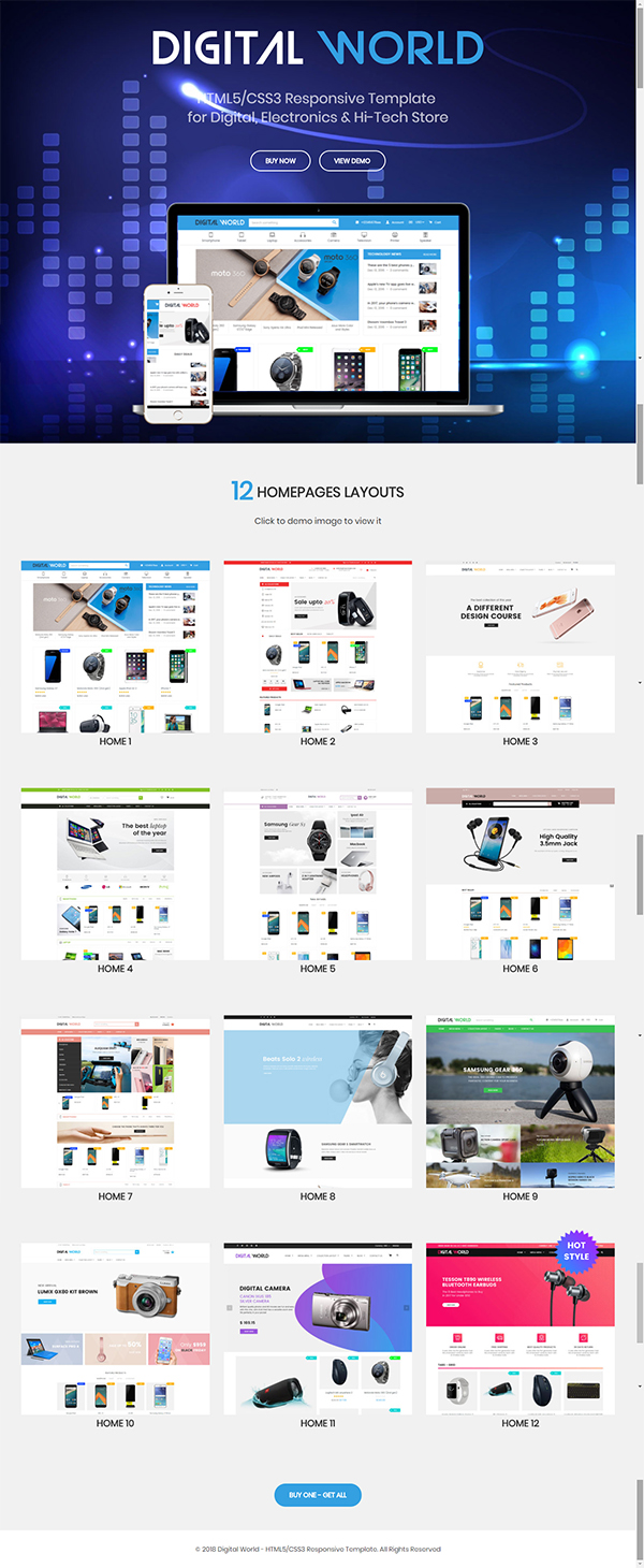 Digital World - HTML Template for Digital, Electronics & Hi-Tech Store