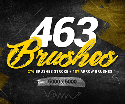 Post thumbnail of Big Bundle : 463 Photoshop Brushes For Designers