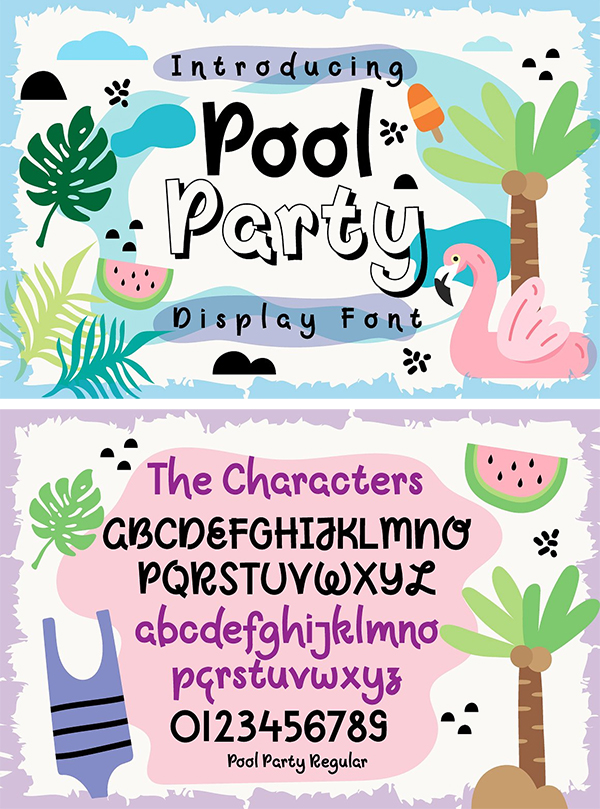 Awesome Pool Party font