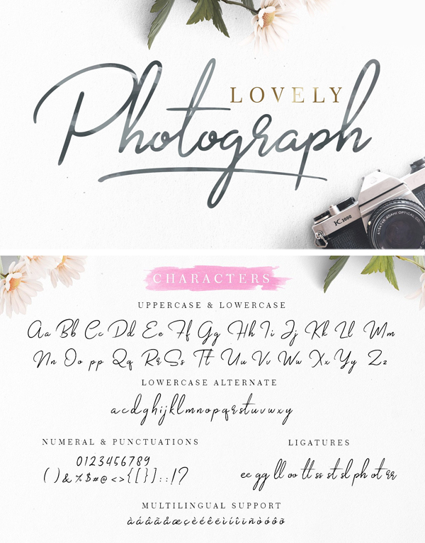 Lovely Photograph + Bonus Font