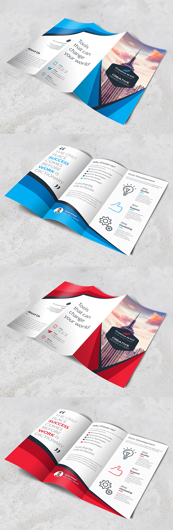 Crreative Trifold Brochure Template