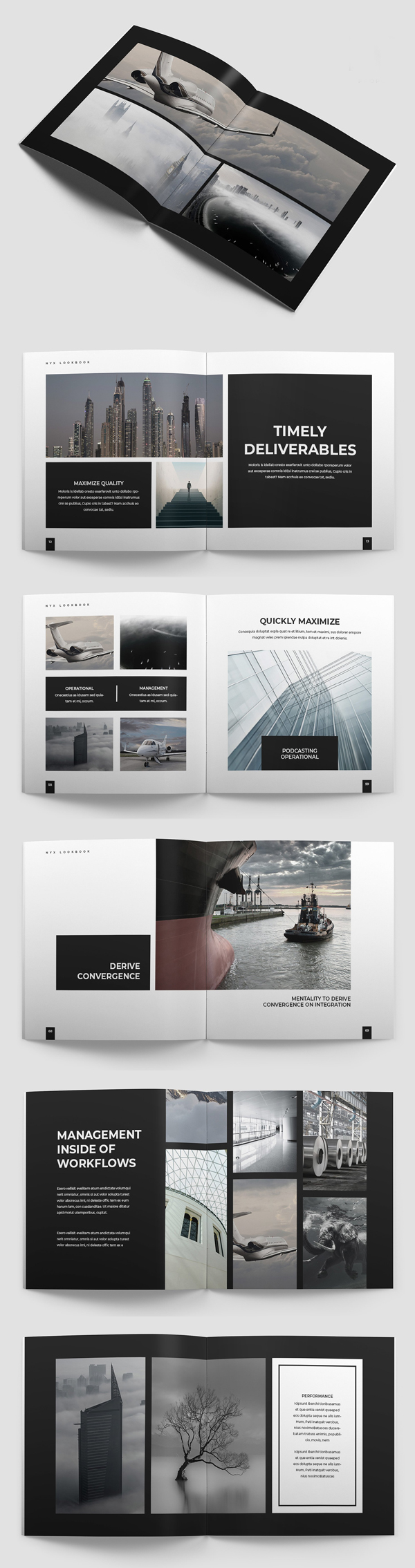 Nyx Lookbook Brochure Template