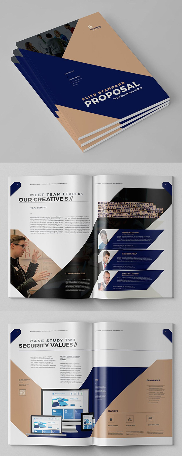 100 Professional Corporate Brochure Templates - 76