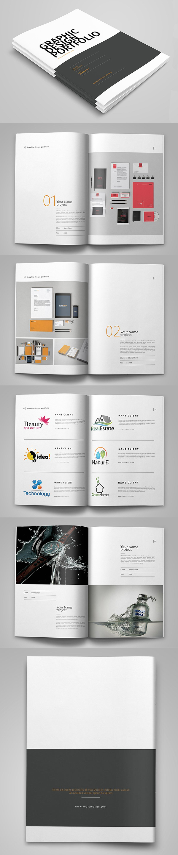 100 Professional Corporate Brochure Templates - 62