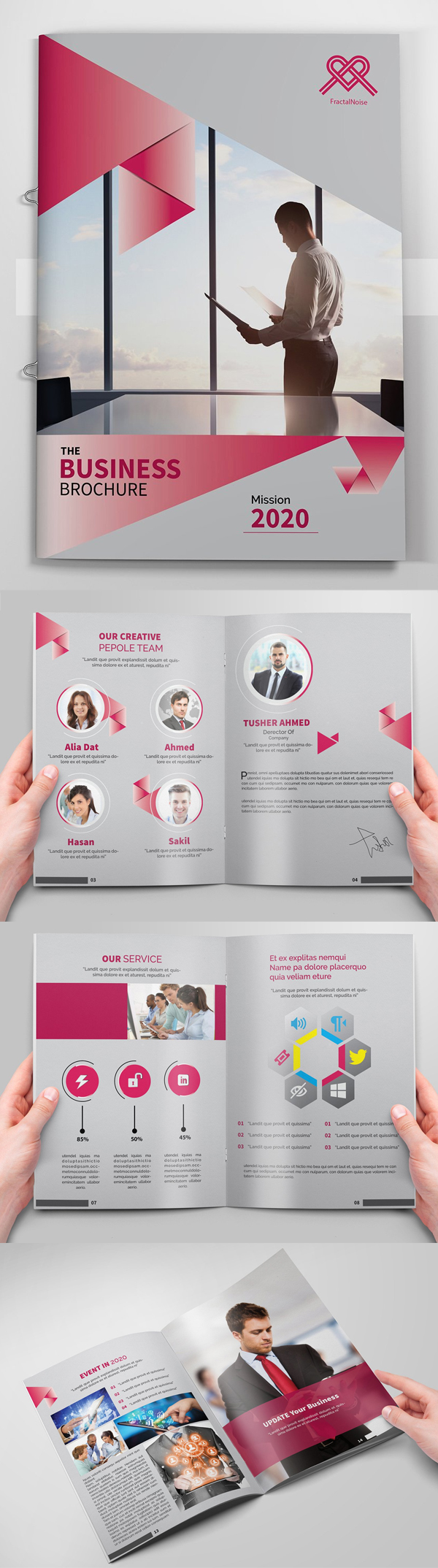 100 Professional Corporate Brochure Templates - 65