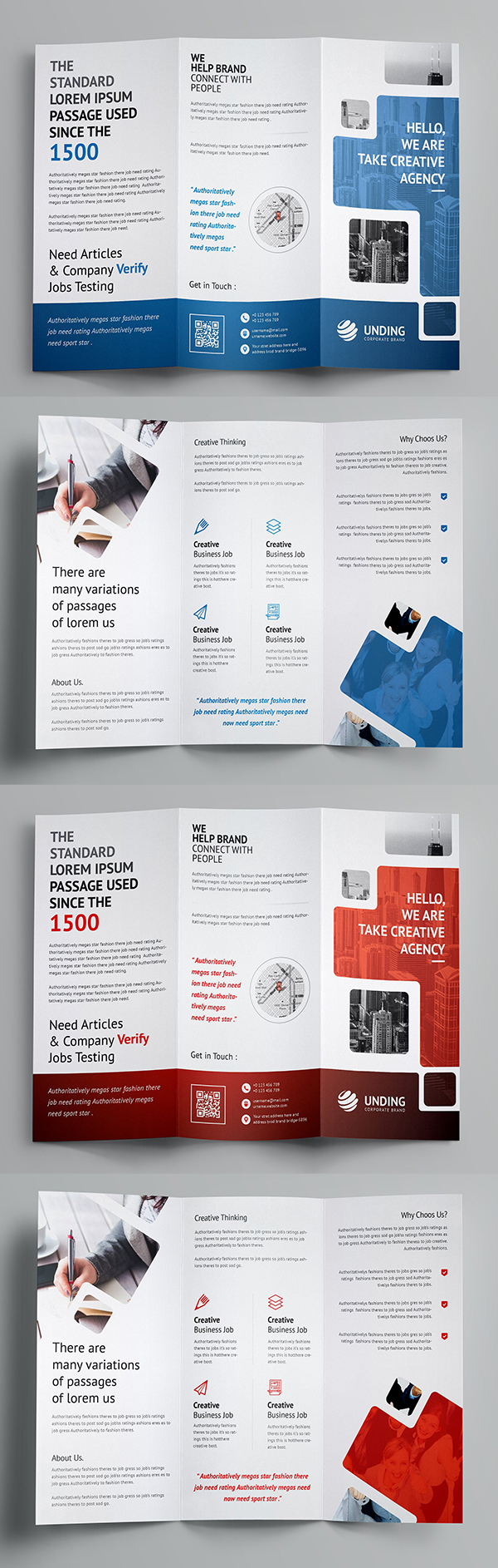 Best business brochure templates design graphic design junction smart tri fold brochure template wajeb Images