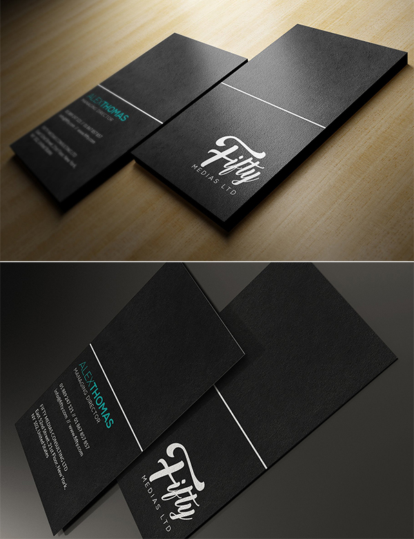Simple Black Business Card Design