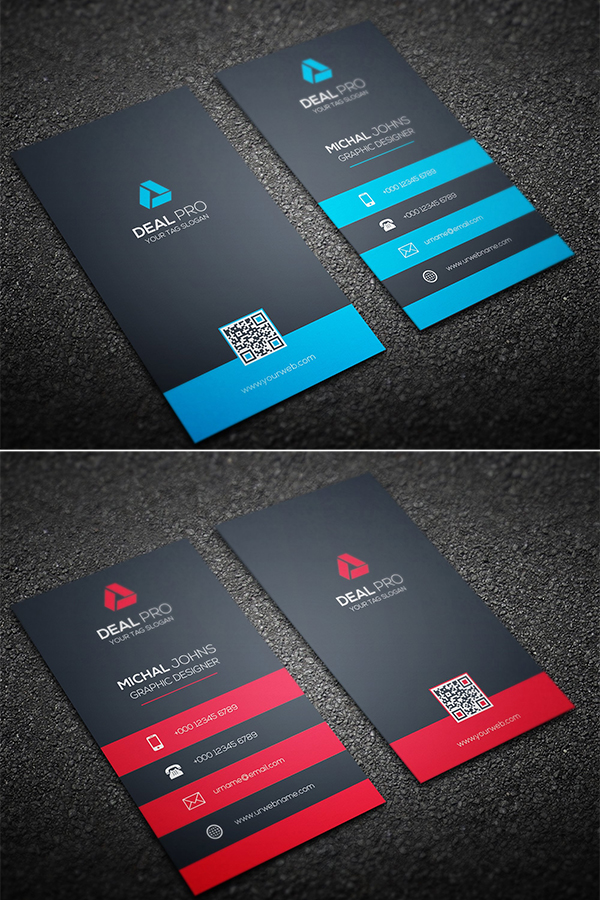Vertical creative Business Card Design