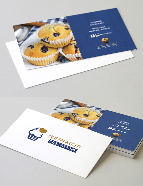 Muffin World Business Card Template