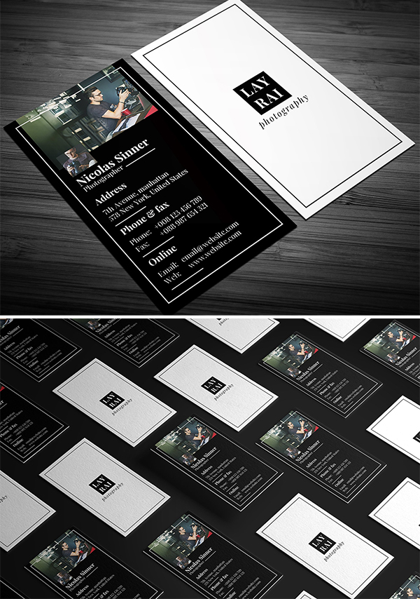 Siminal Photography Business Card