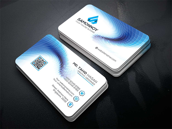 light Business Cards Template