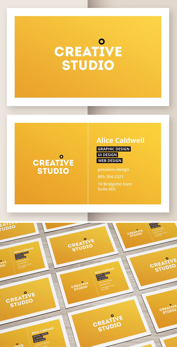 Creative Agency Business Card