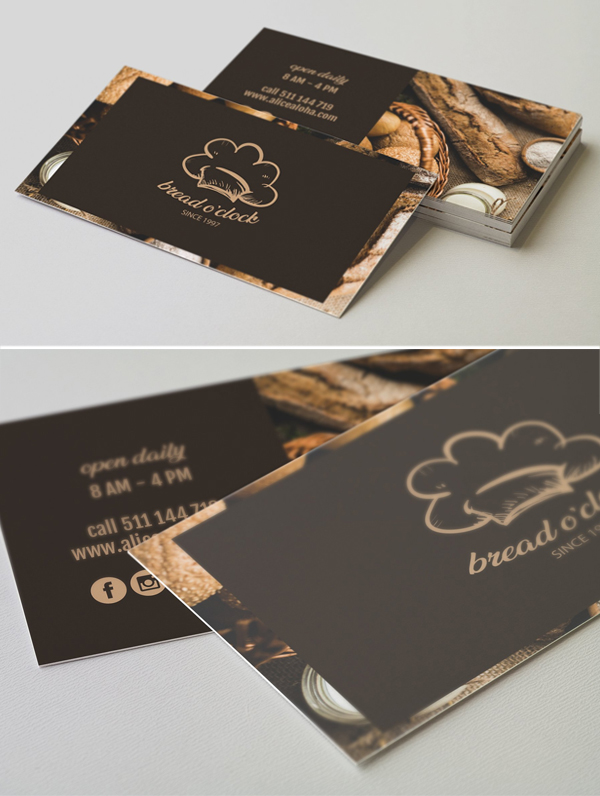 Bread O'clock Business Card Template