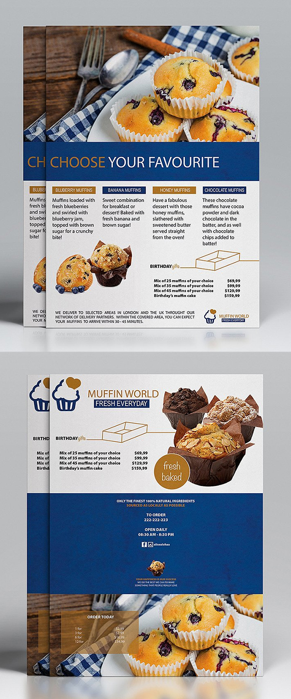 Muffin World Flyer Template