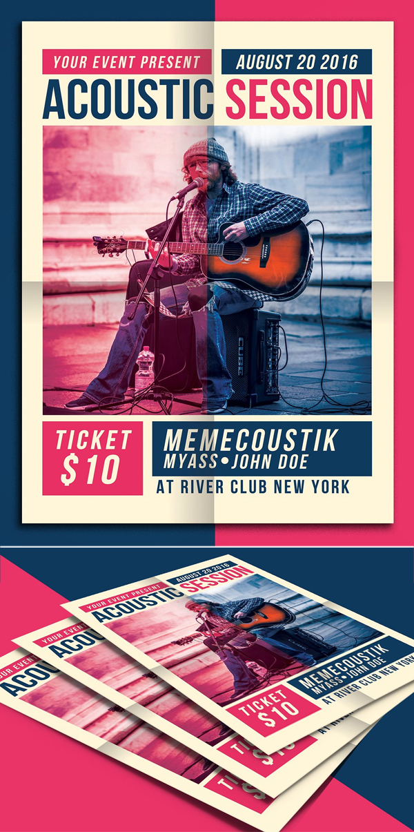 Acoustic Session Flyer Template
